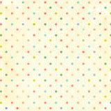 Retro pattern with dots and paper texture. Retro pattern with dots in shabby chic style and paper texture royalty free stock photography