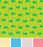 Retro pattern with fishies Royalty Free Stock Photo