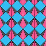 Retro pattern of geometric shapes. Colorful mosaic backdrop. Geometric hipster retro background, place your text on the top of it royalty free illustration