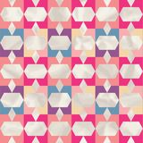 Retro pattern of geometric shapes. Royalty Free Stock Photos
