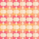 Retro pattern of geometric shapes. Stock Images