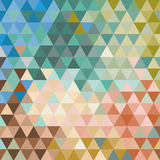 Retro pattern of geometric shapes. Colorful mosaic Stock Photography