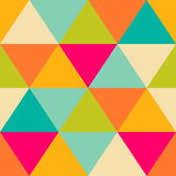 Retro pattern of geometric shapes. Colorful mosaic banner. Geome Royalty Free Stock Photos