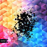 Retro pattern of geometric shapes. Colorful mosaic banner. Geome Stock Image