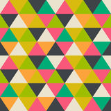 Retro pattern of geometric shapes. Colorful mosaic banner. Geome Royalty Free Stock Image