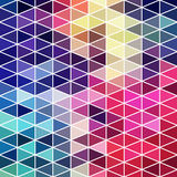Retro pattern of geometric shapes. Colorful mosaic banner. Geome Royalty Free Stock Photo