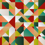 Retro pattern of geometric shapes. Colorful mosaic banner. Geome Stock Photography