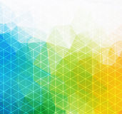 Retro pattern of geometric shapes. Colorful mosaic banner. Geometric hipster retro background with place for your text Stock Photography