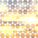 Retro pattern of geometric shapes stock illustration