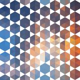 Retro pattern of geometric shapes Royalty Free Stock Photo