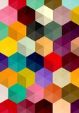 Retro pattern of geometric shapes. Colorful mosaic banner. a pattern of polygons Vector Illustration