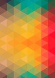 Retro pattern of geometric shapes. Colorful mosaic banner. a pattern of polygons Royalty Free Illustration
