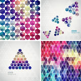 Retro pattern of geometric shapes. Colorful mosaic banners. Geom Stock Images