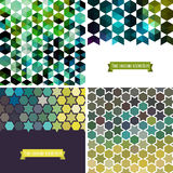 Retro pattern of geometric shapes. Colorful mosaic banners. Geom Royalty Free Stock Photos