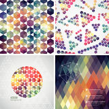 Retro pattern of geometric shapes. Colorful mosaic banners. Geom Stock Photos