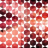 Retro pattern of geometric shapes hexagon Royalty Free Stock Photo