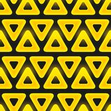 Retro pattern of geometric shapes. Seamless vector Royalty Free Stock Images