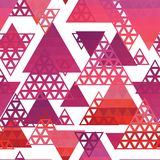 Retro pattern of geometric shapes Royalty Free Stock Photos