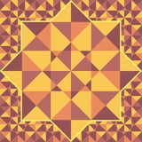 Retro pattern of geometric shapes of triangles. Royalty Free Stock Photo