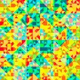 Retro pattern of geometric shapes Royalty Free Stock Image