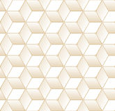Retro Pattern with Golden Cubes Stock Photo