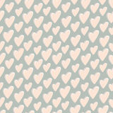 Retro pattern of hearts Royalty Free Stock Image