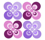 Retro Pattern (I). Retro/Sixties pattern in colors pink and violet royalty free illustration