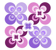 Retro Pattern (II). Retro/Sixties pattern in colors pink and violet royalty free illustration