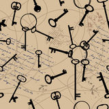 Retro pattern with keys. Stock Images