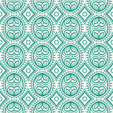Retro pattern with leaves and rhombuses Royalty Free Stock Images