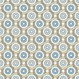 Retro pattern with lines and circles Stock Photography
