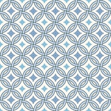Retro pattern - lines, circles and diamond stars Stock Photography