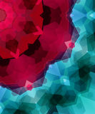 Retro pattern made of hexagonal shapes. Mosaic background gem co Royalty Free Stock Photography