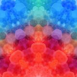 Retro pattern made of hexagonal shapes. Mosaic background. Vecto Stock Photography
