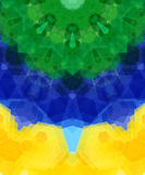 Retro pattern made of hexagonal shapes. Mosaic background. Vecto Stock Images
