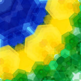 Retro pattern made of hexagonal shapes. Mosaic background. Vecto Royalty Free Stock Images
