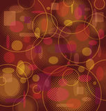 Retro Pattern in Orange / Brown Colors Royalty Free Stock Image