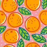 Retro pattern with oranges. Stock Photography