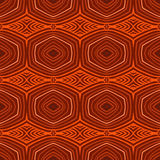 Retro pattern with oval shapes in 1950s style. Stock Image