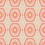 Retro pattern with oval shapes in 1950s style. Stock Images