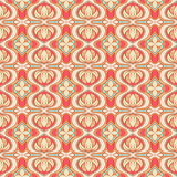 Retro pattern with pink flowers Stock Photography