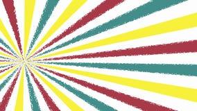 Retro Pattern retro red ,white , yellow ,blue retro rotating background Stock Photography