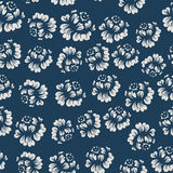 Retro Pattern With Roses Royalty Free Stock Image