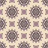 Retro pattern. Seamless pattern with round decorate elements Royalty Free Stock Image