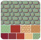 Retro Pattern set of 10. Retro seamless pattern set of 10 colour variations Stock Images