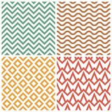 Retro pattern set Royalty Free Stock Photos