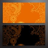 Retro pattern of shapes Stock Photography