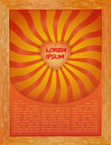 Retro pattern with solar red, yellow and orange rays of sunlight Royalty Free Stock Photos