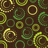 Retro Pattern - Spotted Rings Royalty Free Stock Image