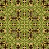 Retro pattern vintage green cross kaleidoscope effect pine Royalty Free Stock Photography